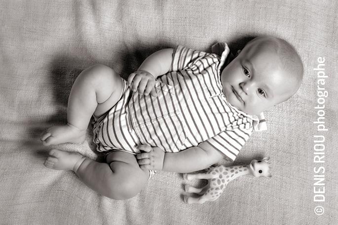 Portrait en studio : Owenn 5 mois