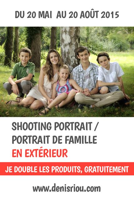 offre portrait de famille