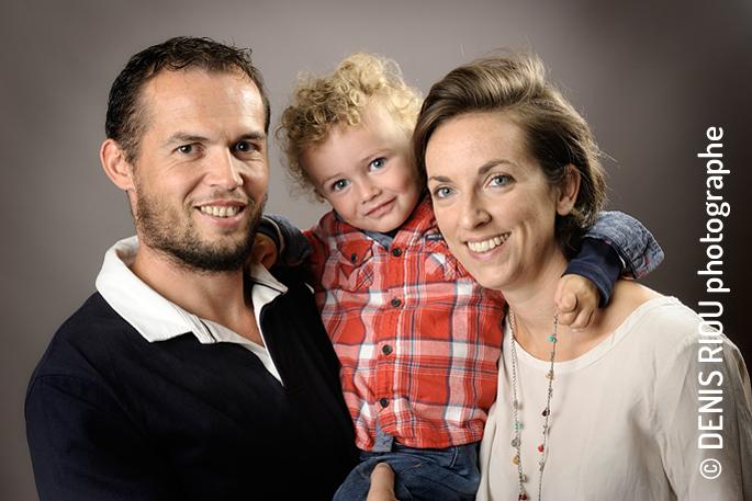 Portrait famille en studio