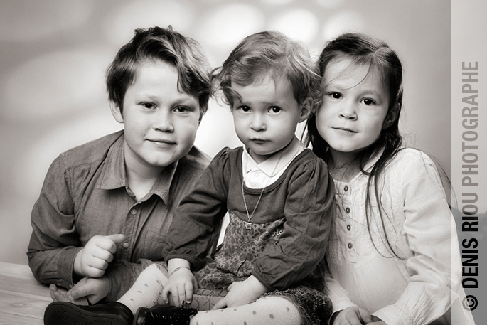 portraits enfants en studio