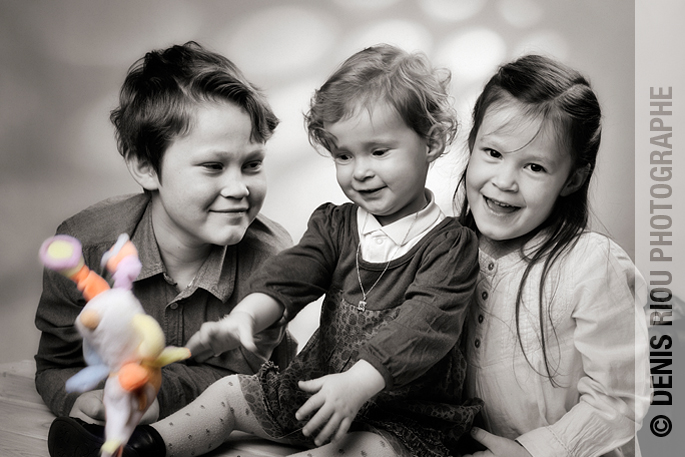 portraits enfants en studio