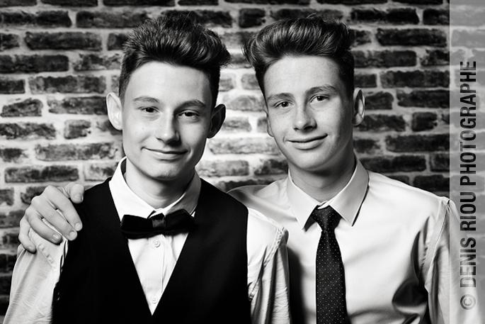 Deux frères en studio