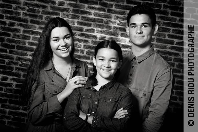 Portrait, les trois enfants