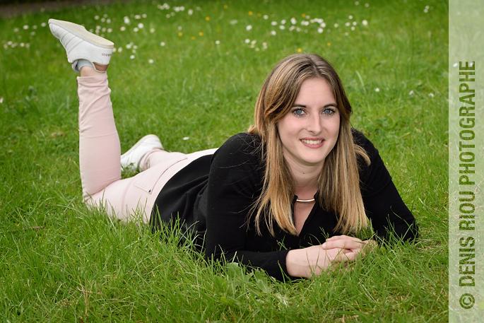 Portrait dans un parc