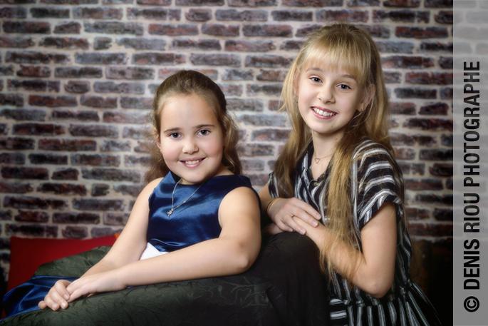 portrait en studio, les filles
